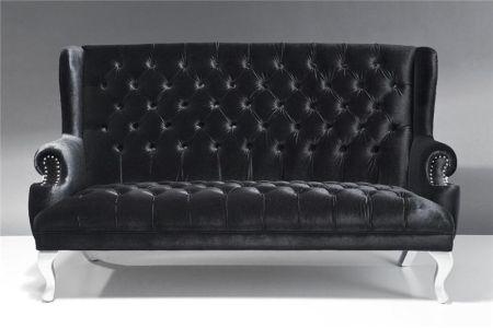 Canapé noir Baroque
