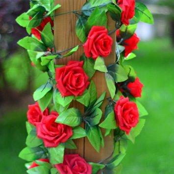 Liane de roses rouge