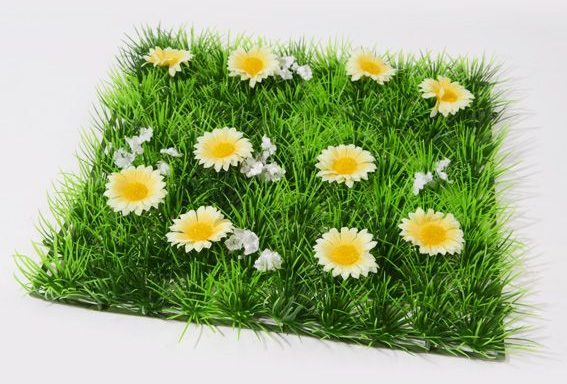 Carré de pelouse artificielle