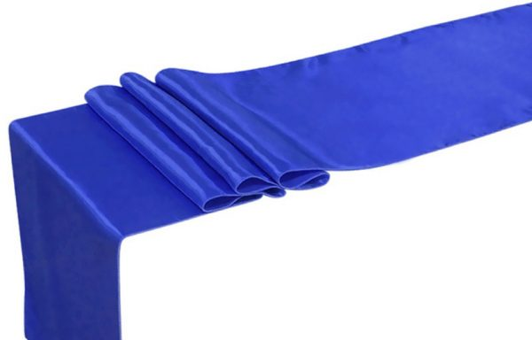 Chemin de table bleu royal