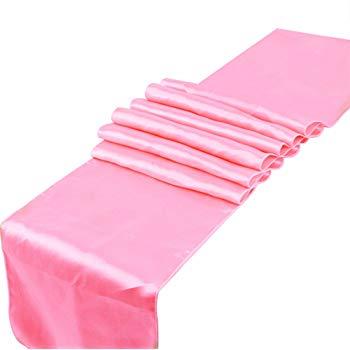 Chemin de table rose